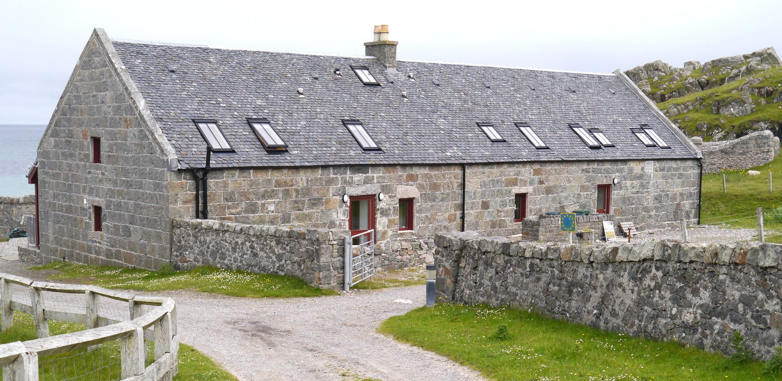 Architects Edinburgh, Ross Smith and Jameson conservation project Alan Stevenson House, Isle of Tiree